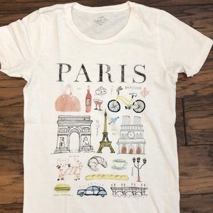 J.Crew Paris Graphic Tee